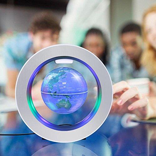 Globo Suspendido Globo Flotante con Luz LED Globo de Mapa del Mundo de Campo Magnético Levitación