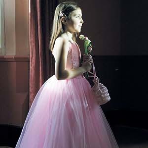 Travis - Robe Enfant - Robe de Bal pailletée Rose. Taille 9 / 10 ans.