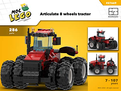 Articulate 8 wheels tractor (Instruction Only): MOC LEGO (English Edition) 8 Moc