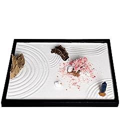 Idea Regalo - ICNBUYS, giardino zen da tavolo fai-da-te con accessori e utensili vari, Pietra, L