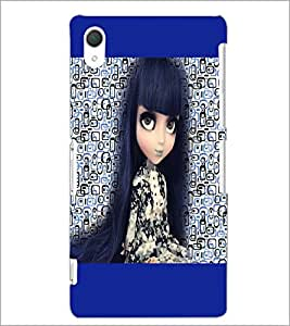 PrintDhaba Long Hair Doll D-5044 Back Case Cover for SONY XPERIA Z2 (Multi-Coloured)