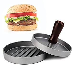 Allezola Burger Patty Press, Hamburger Mould Aluminium Non-Stick Hamburger Maker, Ideal for Barbecue and Fast Food