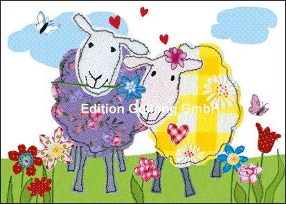 postcard-two-sheep-carola-effektlack-pabst-