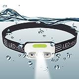 LED Stirnlampe Kopflampe - USB Wiederaufladbare Wasserdicht Mini LED Kopflampe
