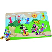 Eichhorn Mickey Mouse Clubhouse Wooden Figure Puzzle (10-Piece, Multi-Colour)