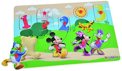 Eichhorn 100003306 - Disney - Mickey Mouse Club House - Steckpuzzle Mickey-mouse-holz-puzzle