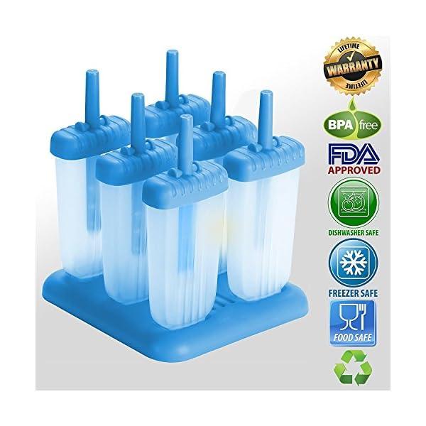 HelpCuisine® Stampi ghiaccioli - Stampi per Gelati Realizzati in plastica di Alta qualità priva di BPA e Approvata dalla… 2 spesavip