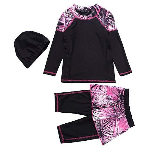 Dubai Kostüm - Xingsiyue 3 Stücke Burkini für Muslimische - Mama und Tochter Badebekleidung Modest Islamisch Dubai Badeanzug UPF 50+ Schnelltrocknende Schwimmen Kostüm Beachwear