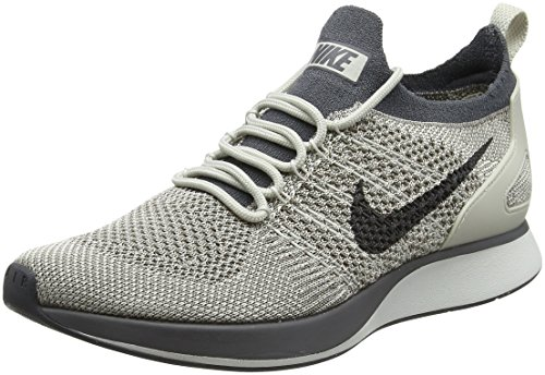 Nike Air Zoom Mariah Flyknit Racer, Baskets Femme Gris (Pale Grey/Dark Grey-Summit White-Light Bone)