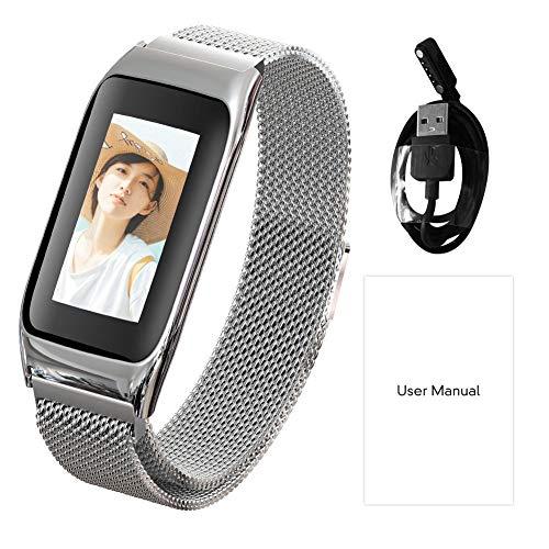telligentes Armband, Farbe Uhr, wasserdicht nach IP67, mit Herzfrequenzüberwachung, Kamerafunktion, Nachrichten mit Schlafüberwachung und Kalorien ()