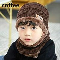 0a4494d92c0 Zygeo - Winter Warm Hat Children Kids Outdoor Sports Hedging Hat Scarf Set  Boys Girls Warm