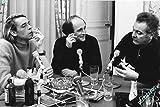 "Photo analógica de Brel, Brassens y Ferré... formato 20x 30cm... 12x 8"""