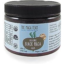 Maca Negra Cruda BIO en cápsulas, 750 Mg, 200 Cápsulas, recién cosechada de Perú, comercio Justo, sin OGM, sin Gluten y Vegana.