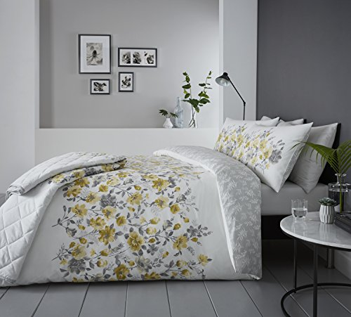 Dreams & Drapes - Gabriella - Easy Care Duvet Cover Set - King, Ochre Best Price and Cheapest