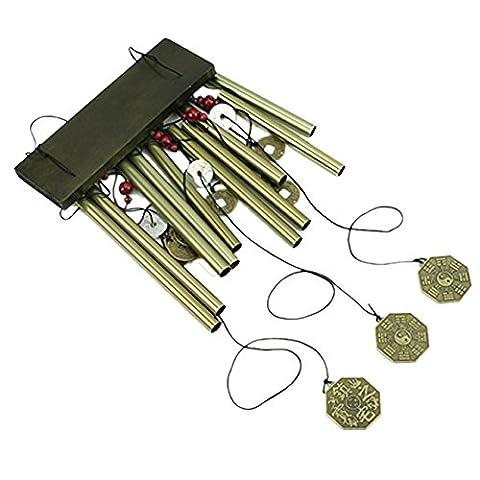 dairyshop Carillon éolien avec 10tubes en métal pour jardin Yard Living Home Decor