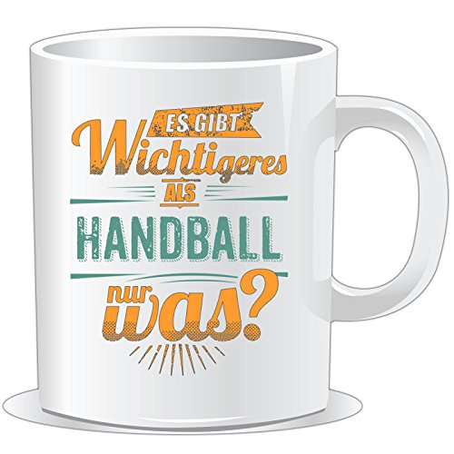 getshirts - RAHMENLOS® Geschenke - Tasse - Sportart Handball - es gibt wichtigeres als - petrol - uni uni