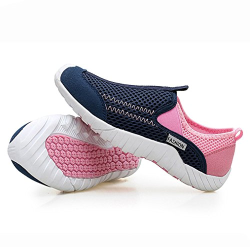 XTIAN, Ballerine donna Dunkelblau,Pink