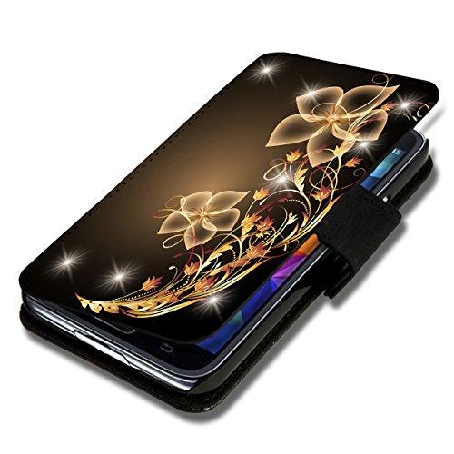 Book Style Flip Handy Tasche Case Schutz Hülle Schale Motiv Etui für LG L Fino - Flip 1X12 Design3