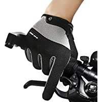 ZXQY Winter riding warm gloves outdoor sports windproof touch screen plus velvet long finger electric bicycle non-slip gloves