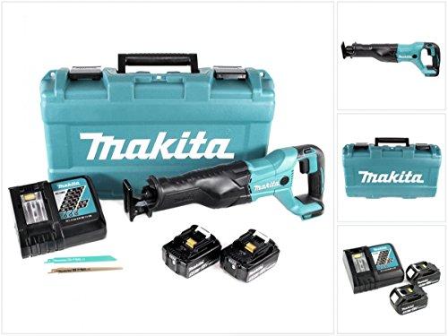 Preisvergleich Produktbild Makita DJR 186 RTK 18 V Li-Ion Akku Säbelsäge Reciprosäge im Transportkoffer + 2x BL 1850 5,0 Ah Akku + 1x DC 18 RC Schnell Ladegerät
