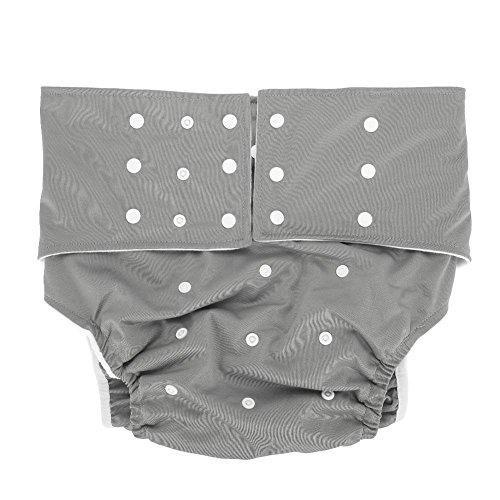 Waschbar Erwachsene Windel, Wiederverwendbare Windelhosen gegen Inkontinenz für Erwachsene, Dual Opening Pocket verstellbar leakfree, für ältere Menschen und behinderte Pflege(#5)