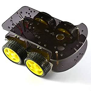 4RM intelligent châssis de voitures 4 roues motrices Double Level K - 002 Pour Arduino