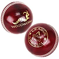 6 x Woodworm League Special 5 1/2oz Cricket Balls RED