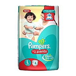 Pampers New Large Size Diapers Pants (8 Count)