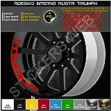 0292Wandtattoo Triple für den Innenraum der Rad Felge, Circular, Paniermehl, für Reifen Straße, für TRIUMPH Daytona, Modell 2, Code 0292 031 Rot
