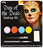 Femmes Hommes Garçon Fille Day of the Dead Tête De Mort Calavera Peinture Visage Multicolore Maquillage Costume Déguisement Kit