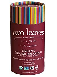 Two Leaves and a Bud Organic English Breakfast Tea, 3.5-Ounce Package