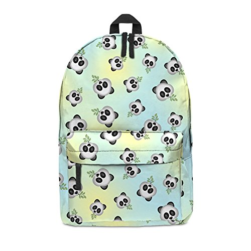 Imagen de fringoo   escolar unisex estampada, equipaje de cabina/gimnasio multicolor emoji panda h42 x l31 x w21 cm
