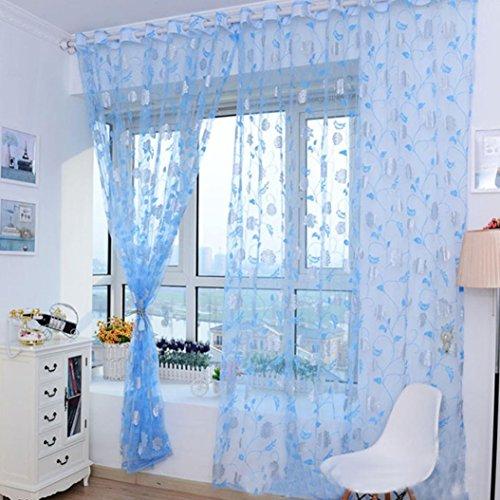 Tongshi Ventas calientes! Impresión caliente cortina floral Pantallas dormitorio principal cortina 200x100cm