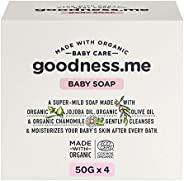 goodness.me Certified Organic Baby Soap | Paediatrician Certified | for Infants and Newborns (ECOCERT GREENLIF
