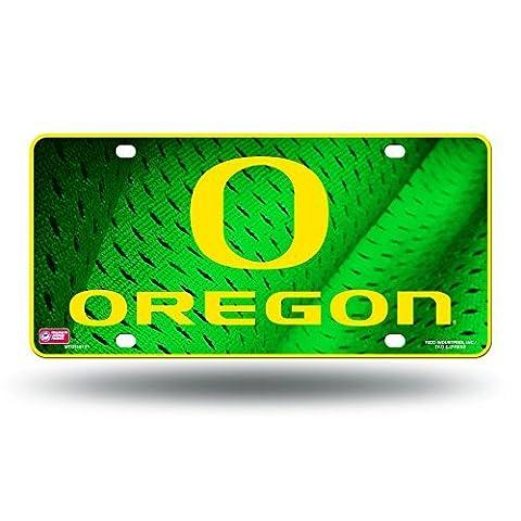 NCAA Oregon Ducks O' Logo Metal Tag License Plate by Rico