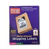 Hälfte Bogen Versand Etiketten, (2)–81/2x 51/2Etiketten pro Blatt für Laser- und Tintenstrahldrucker für Internet Porto Sites eBay, PayPal, stamps. COM 200 Lables 2 UP
