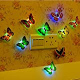 #7: 10 Butterfly Night Lamp With colorful Color Changing butterfly in home & Kichen Decoration