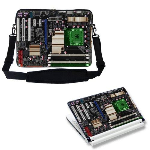 Notebook-Schutzhülle mit verstecktem Griff und verstellbarem Trageriemen, für Laptops der Größe 38,1-39,6cm (15-15,6Zoll), mit passender Klebefolie, Motiv PC-Leiterplatte