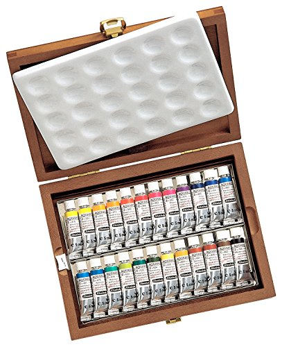 Affordable Schmincke Horadam Watercolour : Wooden Box Set 24x5ml tubes Reviews