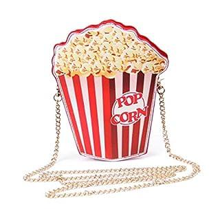 Jspoir Melodiz 1 stück mädchen Mini Crossbody Kette Taschen geldbörsen Fast Food persönlichkeit Casual handtaschen für jeden anlass (Popcorn)
