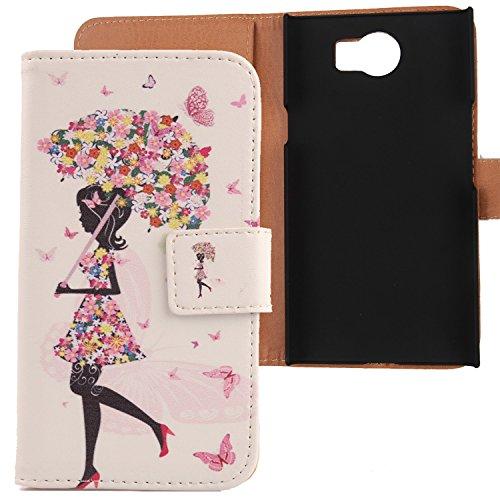 """Lankashi PU Flip Leder Tasche Hülle Case Cover Schutz Handy Etui Skin Für BlackBerry Priv STV100-1 5.4"""" Umbrella Girl Design"""