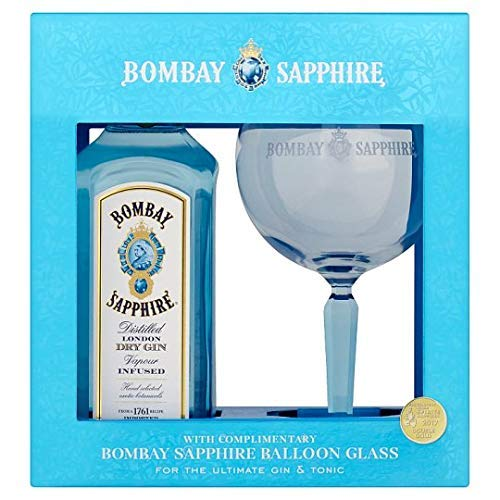 Bombay Sapphire 70cl Gin Gift Set With Balloon Glass