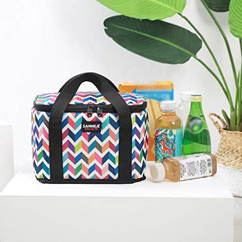 Tensay Isolierte Blumendruck Lunchpaket Für Frauen Männer Kinder Kühler Erwachsene Tote Food Lunchbox, Anzug für Schulbüro Picknick Im (Baby Flug Anzug)