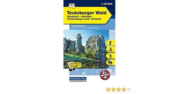 Outdoorkarte Teutoburger 45 Wald 000 Deutschland 150 eE29YHIWD