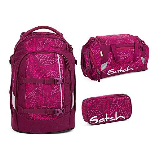 Satch Pack - 3tlg. Set Schulrucksack - Purple Leaves