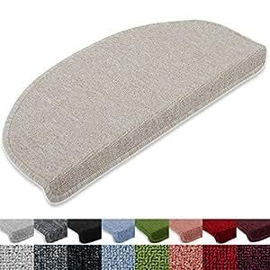 Stufenmatten London 15er SparSet 11 Farben sauber eingekettelt, starke Befestigung, stabile Winkelschiene (Beige)