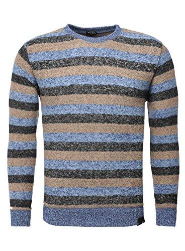 Key Largo Herren Pullover DEPOT Streifen Gestreift Moderner Look blau anthrazit