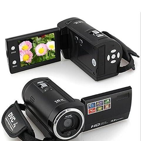 Video Camcorder Stoga C6 720P 16MP Digital Videokamerarecorder-Kamera DV DVR 2.7inch TFT LCD 16x ZOOM Beweglicher Digital-Videogerät-Schwarz