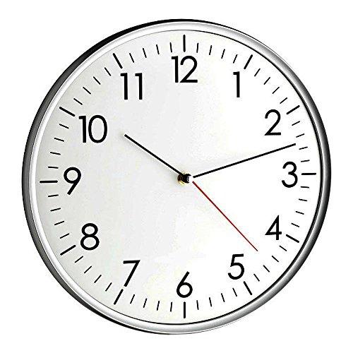 TFA Dostmann orologio da parete moderna Santana TFA 60.3037.10 con silenziosa spazzata orologeria analogica orologio al quarzo 330 mm
