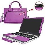 ASUS X541SA X541NA X541UA Housse,2 en 1 spécialement conçu Etui de protection en cuir PU + sac portable Sacoche pour 15.6' ASUS VivoBook Max X541SA X541UA X541NA ordinateur(NON compatible avec Asus X540/X542),Violet